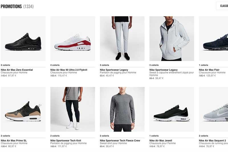 promo] -25% supplémentaires sur les produits Nike en promo ...