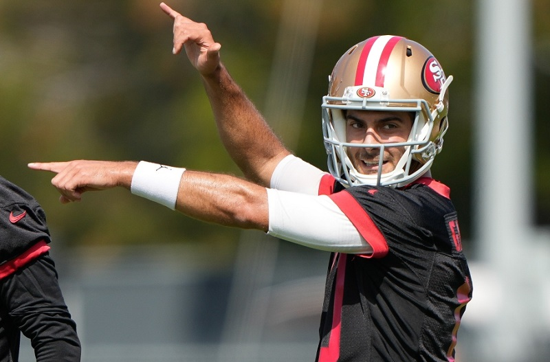 49ers: Jimmy Garoppolo present in training; Trey Lance absent